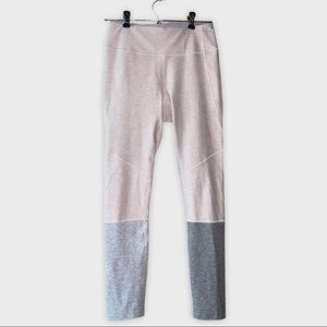 Outdoor Voices dipped color blocked 7/8 leggings.